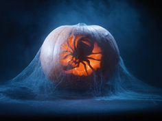 Scary Halloween pumpkin carving. Love this idea and will use it this year.