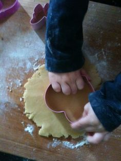 Baking biscuits with my son