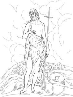 Saint John The Baptist Catholic Coloring Page Feast Day Is June 24th