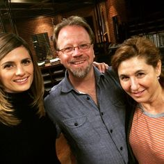 #Castle BTS 23:  So much of the Castle story came from these two. I remember shooting the pilot with Terri Edda Miller & Andrew Marlowe in NYC. We were all so new to TV then. So green. We've learned a lot these years. What you've watched & the characters you've fallen in love with never would've happened if not for Castle's creator Andrew Marlowe. Andrew & Terri wrote the finale. One of my favorite Beckett moments ever is in this ep. Thank you, Andrew. Thank you, Terri... For giving me a…