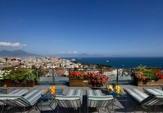 Refined luxury at a five-star hotel overlooking Naples, with breakfast and a choice of room types