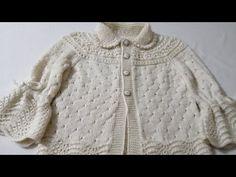 hands,knitting,crochet: MATMAZEL HIRKA YAPIMI -Video anlatımlı Baby Knitting Patterns, Knitting Stitches, Hand Knitting, Crochet Baby Sandals, Knitted Baby Clothes, Baby Coat, Knitting Videos, Baby Cardigan, Baby Sweaters