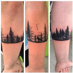 armband tattoo forest and animals