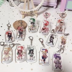 My Hero Academia Merchandise, Anime Merchandise, Hero Academia Characters, Acrylic Keychains, Acrylic Charms, Tsuyu Cosplay, Cute Keychain, Keychain Ideas, Boko No