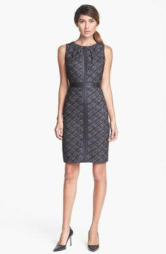 f79a1e22deae Classiques Entier®  Cota Jacquard  Leather Trim Dress Fashion Catalogue