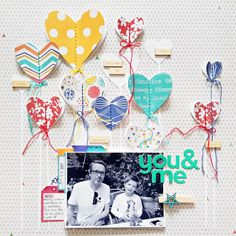 You & Me Layout by Zsoka Marko featuring Jillibean Soup Saffron Yellow Pepper Soup collection. Love Scrapbook, Scrapbook Page Layouts, Scrapbook Albums, Scrapbook Cards, Scrapbooking Ideas, Birthday Scrapbook, Scrapbook Sketches, Picture Layouts, Candy Cards