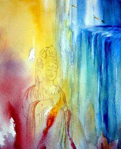 Kwan Yin- a rainbow bore Kwan Yin to heaven in human form
