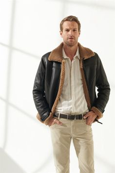 LIAM Men Casual Toffee Shearling Jacket Black Noble   Luxury Shearling Mens Shearling Jacket, Leather Jacket, Toffee, Men Casual, Hipster, Luxury, Jackets, Black, Style