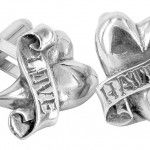 Love Hate cufflinks by Metal Couture