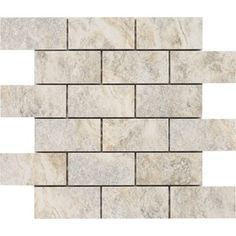 Floriana Heather Glazed Porcelain Mosaic Subway Wall Tile (Common: 12-in x 12-in; Actual: 11.81-in x 11.81-in)