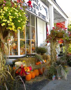 Rosseau General Store in Fall