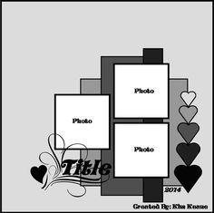 Scrapbook page layout Scrapbook Patterns, Love Scrapbook, Scrapbook Quotes, Scrapbook Layout Sketches, Scrapbook Templates, Scrapbook Designs, Wedding Scrapbook, Card Sketches, Scrapbook Paper Crafts