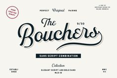 Bouchers Script 2.0 by Swistblnk Design Std. on @creativemarket