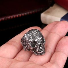 Biker Ring Skull Ring Mens Ring Mens Skull Ring by trendyst