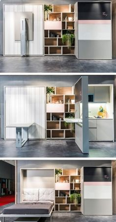 Saving space with creative folding bed ideas 47 – Rockindeco Saving space with creative folding bed ideas 45 Folding Furniture, Smart Furniture, Space Saving Furniture, Furniture Design, Compact Furniture, Space Saving Beds, Furniture Ideas, Multipurpose Furniture, Multifunctional Furniture