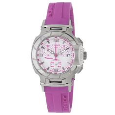 Tissot Women s T-Race White Dial Pink Silicone Strap Watch - Wrist Watches e0d1db9073c6
