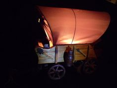 Retro Tv Lamp Cowboy Covered Wagon Lamp Vintage