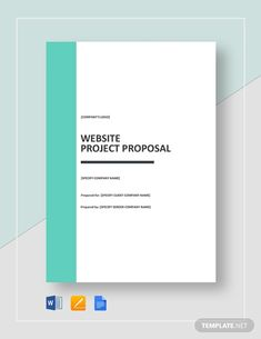 Website Project Proposal Templates - PDF, Word, Pages Project Proposal Template, Proposal Templates, Writing A Business Proposal, Website Proposal, Typography Design, Lettering, Word Doc, Letter Size, Company Names