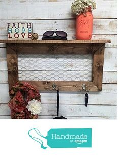Entry Way Shelf, entryway shelf, coat rack, galvanized metal, wood shelf, metal shelf, Rustic Shelf, entry way shelves, coat rack with shelf from Country Corner Goods http://www.amazon.com/dp/B018L6O1OU/ref=hnd_sw_r_pi_dp_uhdGwb19MRPWP #handmadeatamazon