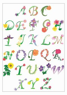 Alphabet   Flower                                                                                                          by lamchops on deviantART