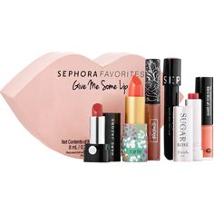 Sephora Favorites Give Me Some Lip ($25) ❤ liked on Polyvore featuring beauty products, makeup, lip makeup, lips makeup, lip gloss makeup, sephora collection and lip cosmetics