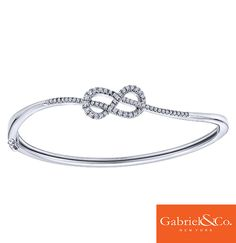 Loving this 14k White Gold Diamond Bangle by Gabriel and Co. The perfect arm candy to add to your jewelry collection.