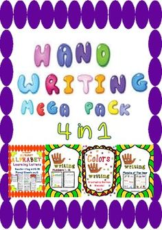 Hand-Writing Mega Pack / 4 in 1 /alphabet-Numbers 1-12 - C