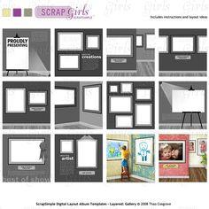 5x7 scrapbook templates scrapbooking photo gifts pinterest scrapsimple digital scrapbooking layout album templates layered 12x12 gallery pronofoot35fo Gallery