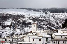 La Alpujarra cubierta de nieve #Capileira #Alpujarra #Granada