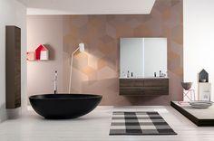 Black Bathtubs for Modern Bathroom Ideas with Freestanding Installation