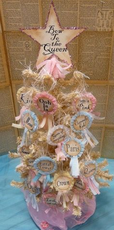 fun idea-- tree full of different words or phrases--like the Queen part, too
