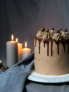 Suklaa-mokkakakku - http://starbox.fi/jannenkeittiossa/suklaa-mokkakakku