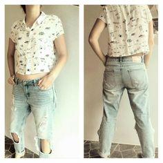 SS17 TIFFOSI developments - girlfriend distressed jeans