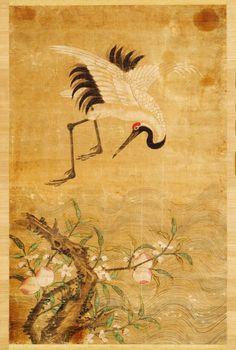 Korean Painting, Chinese Painting, Chinese Art, Japanese Crane, Japanese Art, Korean Art, Asian Art, Asian Paints, Folk Art