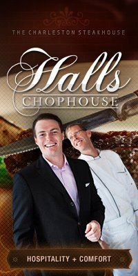 Restaurants in Charleston SC, Charleston Nightlife   Halls Chophouse   The Charleston Steakhouse