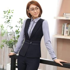 Source by atwaterkentbob outfit for work offices Corporate Outfits, Corporate Wear, Office Uniform For Women, Formal Jackets For Women, Suit Fashion, Fashion Outfits, Maid Outfit, Pantsuits For Women, How To Make Clothes
