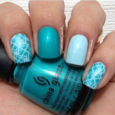 Turquoise nails. China Glaze. Nail art. Nail design. Polish.