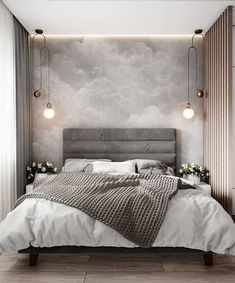 Modern Bedroom Inspirations Beds Ideas For 2020 Gray Bedroom, Home Decor Bedroom, Master Bedroom, Master Suite, Budget Bedroom, Bedroom Small, Bedroom Curtains, Bedroom Wardrobe, Lobby Design