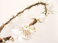 Flower Crown Bridal Headpiece Spring Blossoms by NoonOnTheMoon, $40.00