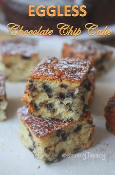 Super moist eggless chocolate chip cake recipe which taste so moist and delicious. Enjoy a piece with a cup of hot coffee or tea.