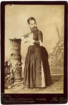 Born with a rare genetic mutation, little Josephine Boisdechêne, by the age of eight, already sported a beard two inches long. By the time she was fourteen, her Swiss father was accompanying her on Eu