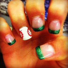 My baseball nails :) But the tip the color of your team