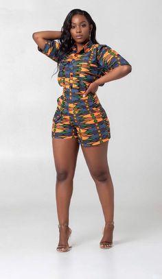 ankara palazzo short for cute ladies Beautiful African Women, Beautiful Dark Skinned Women, African Beauty, Most Beautiful Black Women, African Fashion Ankara, African Print Fashion, African Women Fashion, African Attire, African Wear