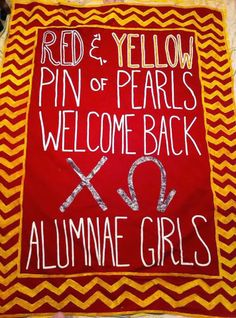Anna's Life Travels: Sorority Banner Painting