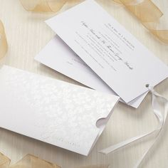 Precious Damask Invitation - Confetti.co.uk