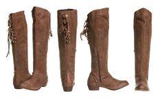 Lace Up Brown Boot | www.ShopHoityToity.com