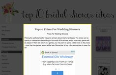 Prizes For Wedding Showers
