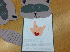 (27 Fresh Kissing Hand Freebies and Teaching Resources) Chester Raccoon Craftivity - KindergartenWorks.com