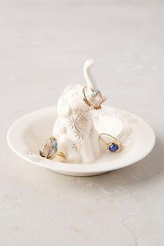 Anthropologie Bathing Elephant Trinket Dish