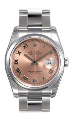 (Limited Supply) Click Image Above  Rolex Datejust Pink Roman Dial Oyster  Bracelet Mens Watch 5a182065d7f